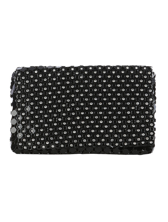 METAL DRAPE CLUTCH