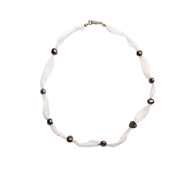 Innocence Pearl and Ribbon Necklace - Presidential Brand (R)
