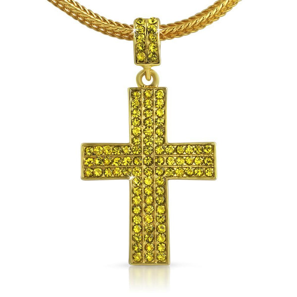 Triple Lemonade Cross  Chain Small