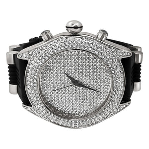 Full Dial and Triple Bezel Icey Watch Silver - Presidential Brand (R)