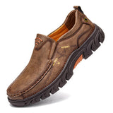 Men Non Slip Outdoor Business Casual Slip On Leather Shoes - Presidential Brand (R)