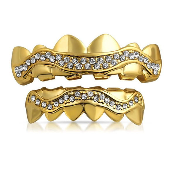 Gold Grillz Wavy Ice Set - Presidential Brand (R)