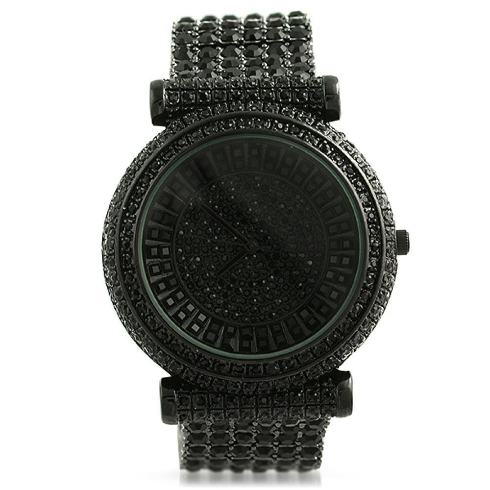 Baguette Baller Black Custom Watch