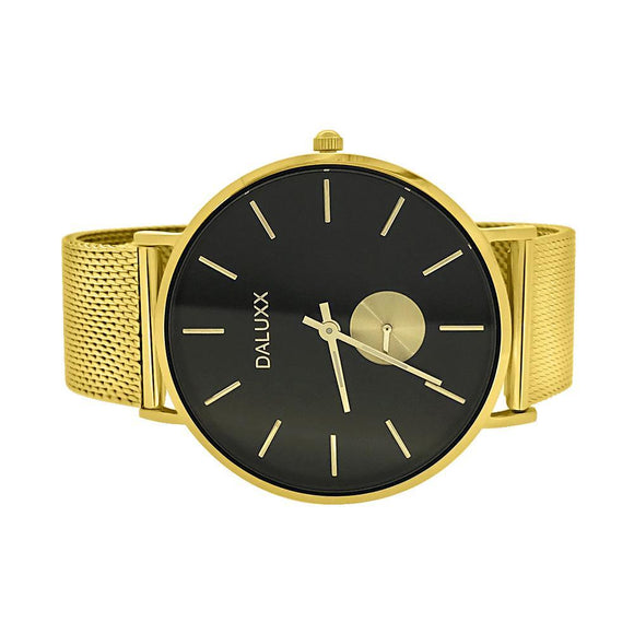 Gold Subdial Mesh Band Watch Black Dial - Presidential Brand (R)