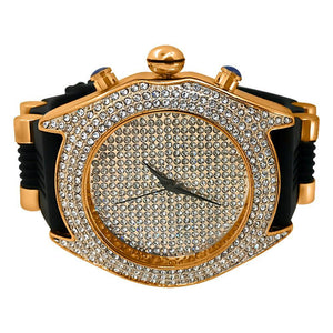 Full Dial and Triple Bezel Icey Watch Rose Gold - Presidential Brand (R)