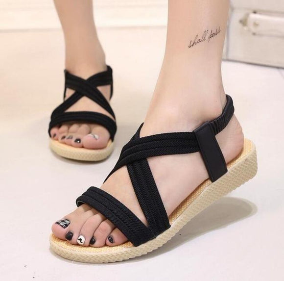 Summer Casual Beach Style  Sandals in Black - Presidential Brand (R)