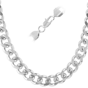 Cuban Stainless Steel Chain Necklace 12MM - Presidential Brand (R)