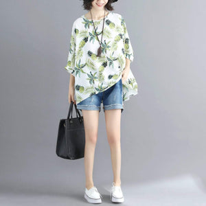 Womens Tropical Pineapple Print Batwing Top - Presidential Brand (R)