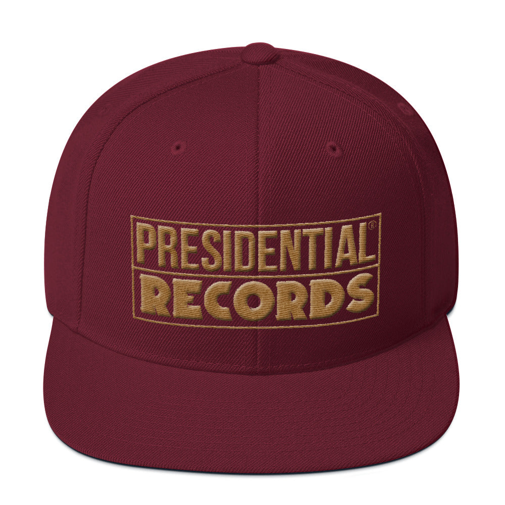 Presidential Records Gold Snapback Hat