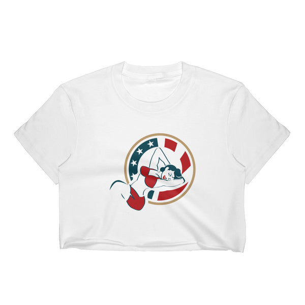 Presidential Chick Badge Women's Crop Top