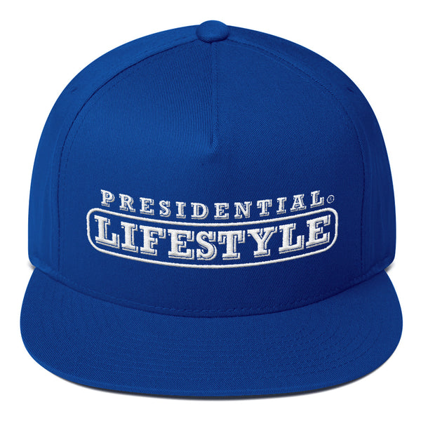 Presidential Lifestyle Logo White P On Back  | Flat Bill Cap