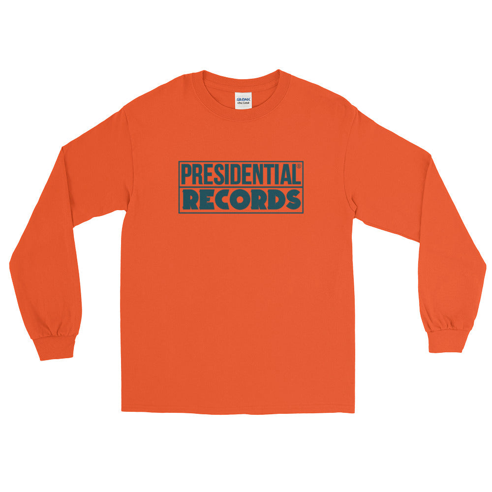 Presidential Records Blue Long Sleeve T-Shirt