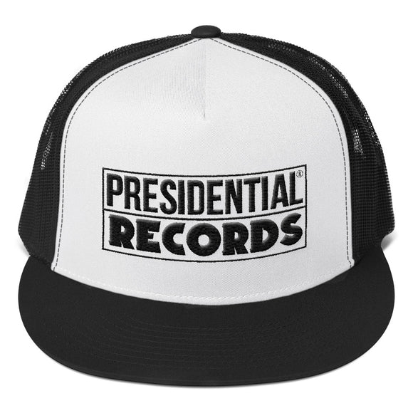 Presidential Records | Black & White Trucker Cap - Presidential Brand (R)