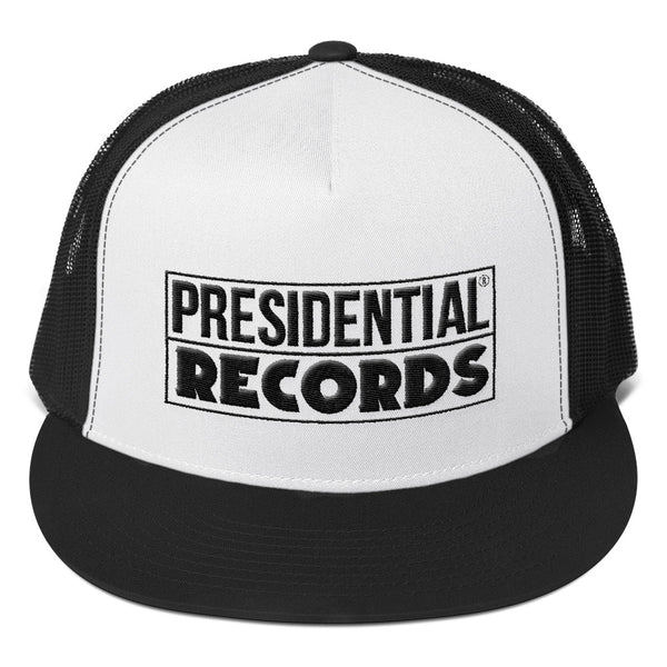 Presidential Records | Black & White Trucker Cap