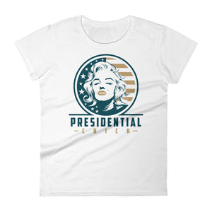 Presidential Chick Gold Women's Short Sleeve T-Shirt - Presidential Brand (R)