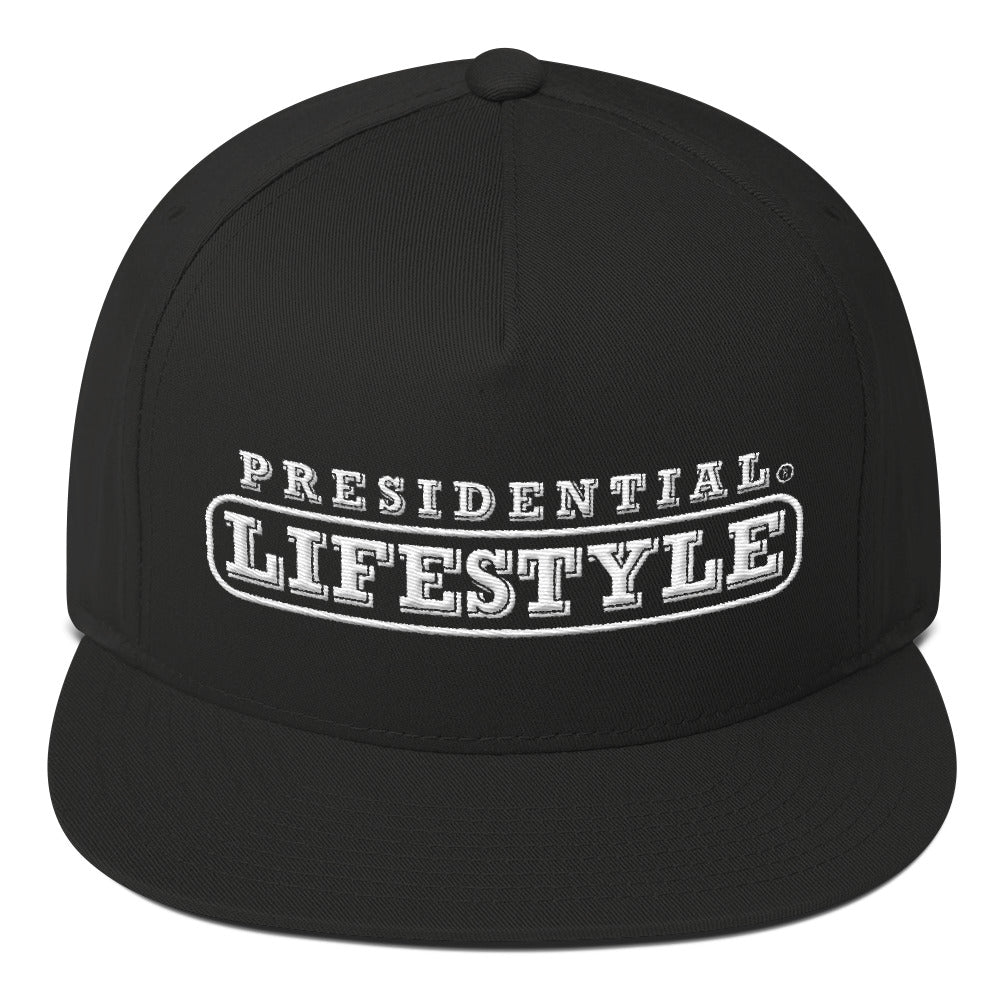 Presidential Lifestyle White Flat Bill Cap
