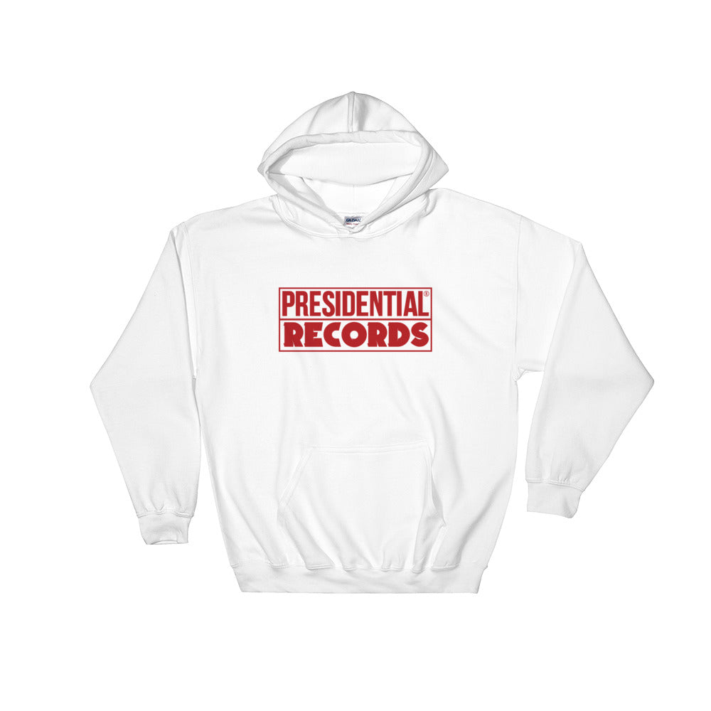 Presidential Records Red Hooded Sweatshirt