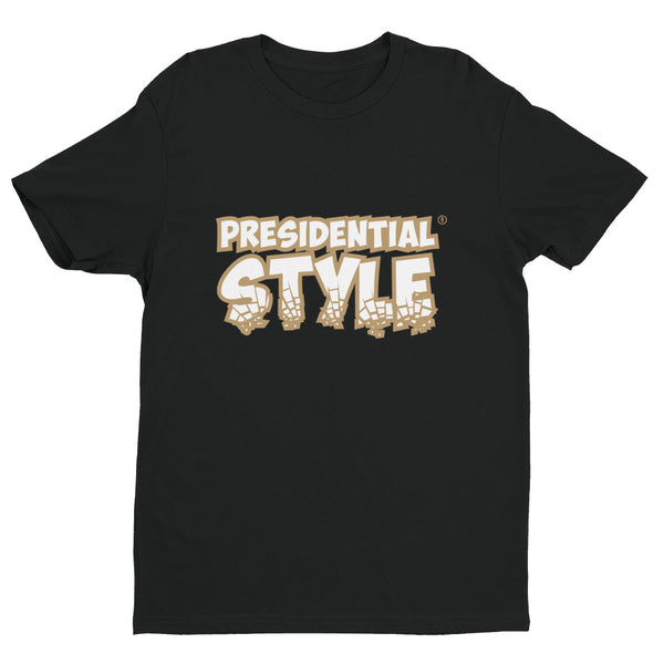 Presidential Style Gold Short Sleeve T-Shirt