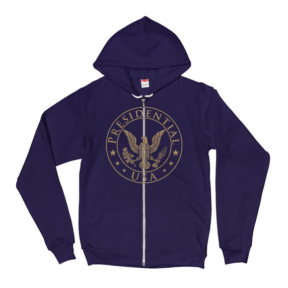 Presidential USA Badge Gold Hoodie Sweater - Presidential Brand (R)