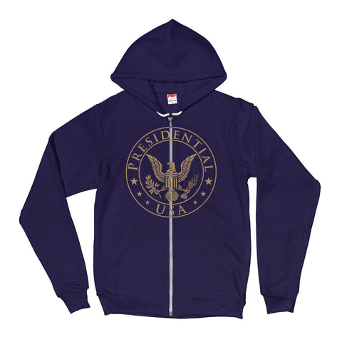 Presidential USA Badge Gold Hoodie Sweater