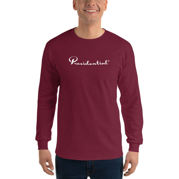 Presidential White Long Sleeve T-Shirt - Presidential Brand (R)