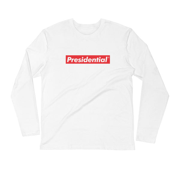 Presidential Red Box Long Sleeve Fitted Crew - Presidential Brand (R)
