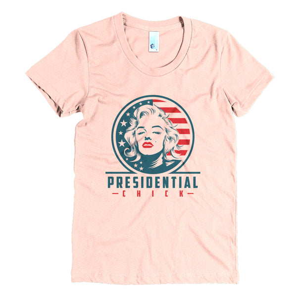 Presidential Chick Red Women's Crew Neck Tee