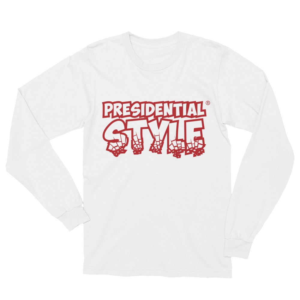 Presidential Style Red Long Sleeve T-Shirt