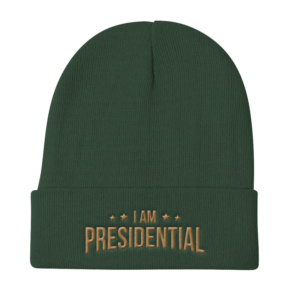 I Am Presidential Knit Beanie