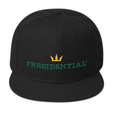 PRESIDENTIAL Gold Crown Logo Otto Cap 125-978 - Wool Blend Snapback - Presidential Brand (R)