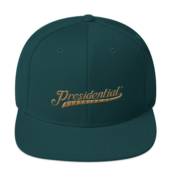 Presidential Clothing Co P On Back | Snapback Hat - Presidential Brand (R)