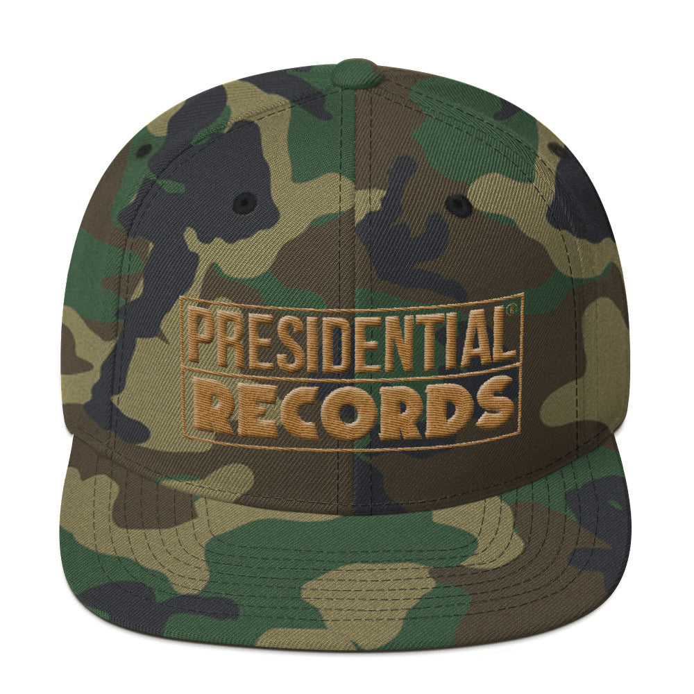 Presidential Records Gold Logo | Snapback Hat