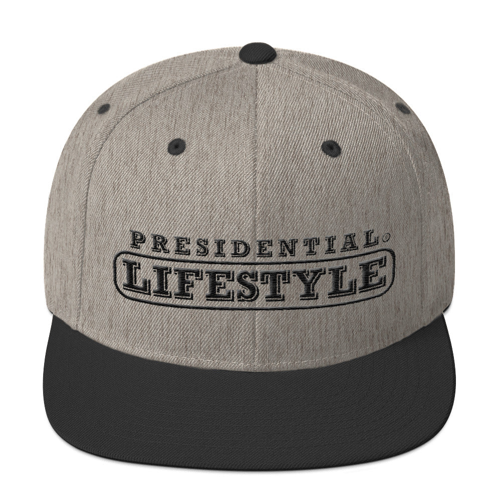 Presidential Lifestyle Icon P Black  | Snapback Hat