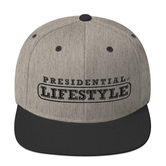 Presidential Lifestyle Icon P Black  | Snapback Hat - Presidential Brand (R)