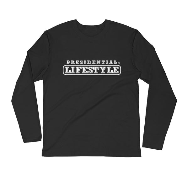 Presidential Lifestyle White Long Sleeve Fitted Crew - Presidential Brand (R)