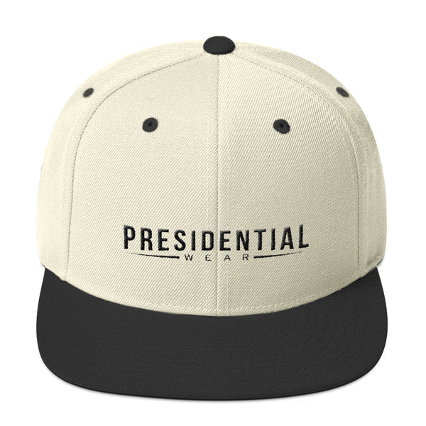 Presidential Wear In Black Snapback Hat