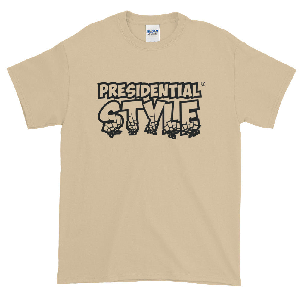 Presidential Style Black Short-Sleeve T-Shirt