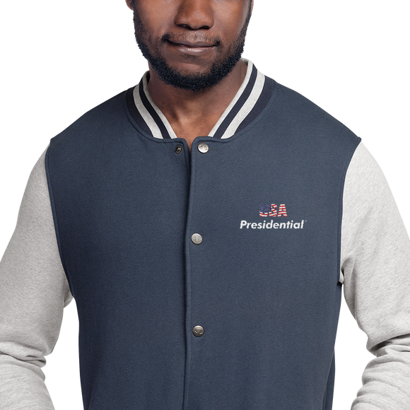 Embroidered Champion  PRESIDENTIAL USA Bomber Jacket - Presidential Brand (R)