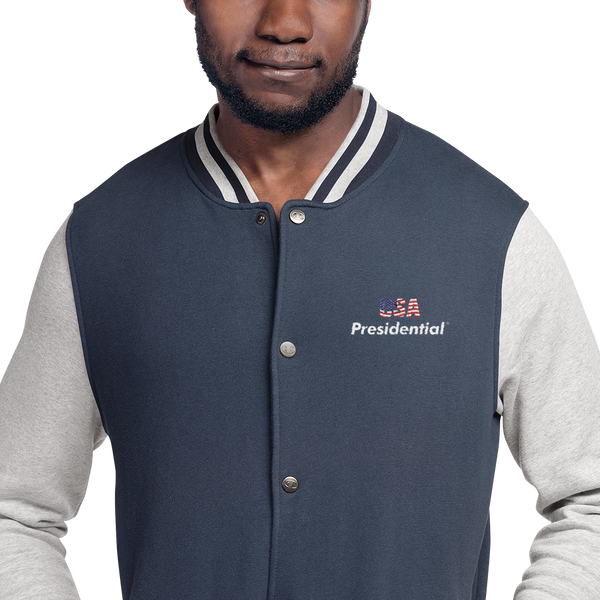 Embroidered Champion  PRESIDENTIAL USA Bomber Jacket