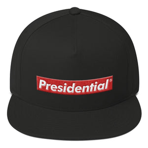Presidential Redbox Logo Icon P On Back | Flat Bill Cap - Presidential Brand (R)