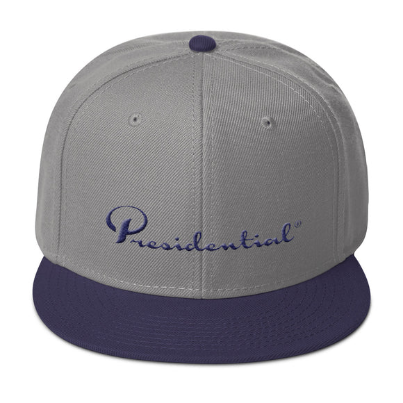 Presidential Cursive P On Back | Snapback Hat