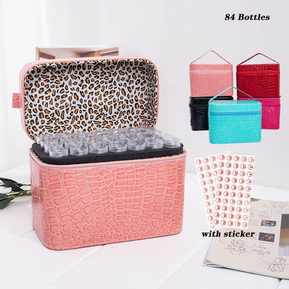 84 Bottles Diamond Painting Accessories Hand Bag Storage Box Beads Diamond Embroidery tools Mosaic Container - Presidential Brand (R)