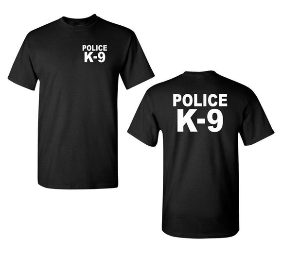 Police K-9 K9 Front and Back  Short Sleeve  T Shirts - Presidential Brand (R)