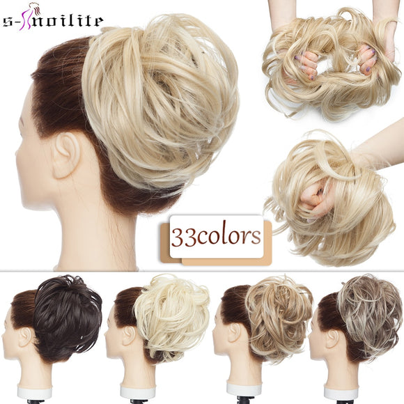 Hairpieces Synthetic Ombre Elastic Updo Fluffy Messy Scrunchies Hair Bun - Presidential Brand (R)