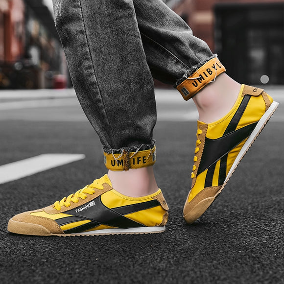 Mens Yellow Sneakers Breathable Running Shoes For Men White Casual Shoe Lightweight Male Flats Sneakers Fashion Outdoor Footwear - Presidential Brand (R)