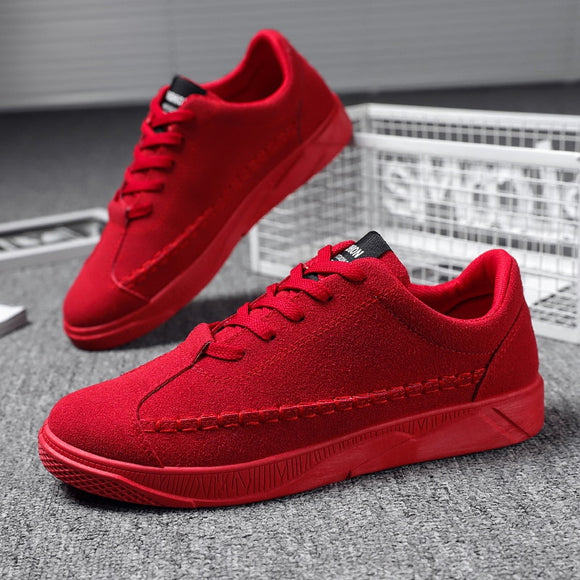 Mens Red Sneakers Black Flats Shoes Breathable Running Shoes For Men Outdoor Comfort Sneakers Lace Up Shoe Zapatos de hombre - Presidential Brand (R)