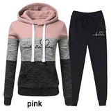 Casual Two Piece Outfits Pullovers Hoodies and Elastic Waist Jogger Pants Spring Autumn Tracksuit Woman Suit Female Sets 2021 - Presidential Brand (R)
