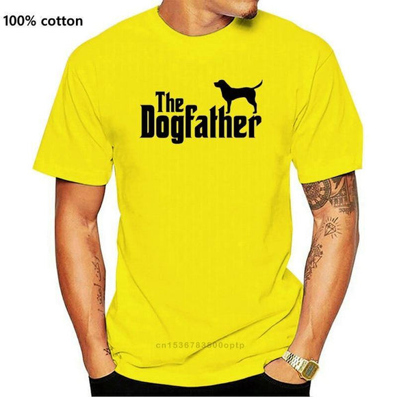 K9 Printed T Shirt Short Sleeve Men The Dogfather  K9 Lover Trainer Dog Puppy Cool Tee - Presidential Brand (R)