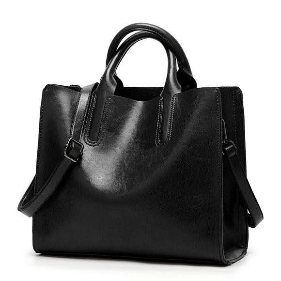 Oil Wax Leather Women's Tote Large-capacity Women shoulder bag Classic Casual Tote bags for women 2019 bolsa feminina new C836 - Presidential Brand (R)
