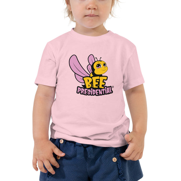 Bee Presidential Pink-  Toddler Short Sleeve Tee - Presidential Brand (R)